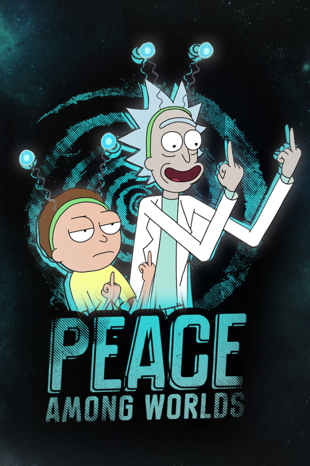 Wallpaper Rick and Morty iPhone