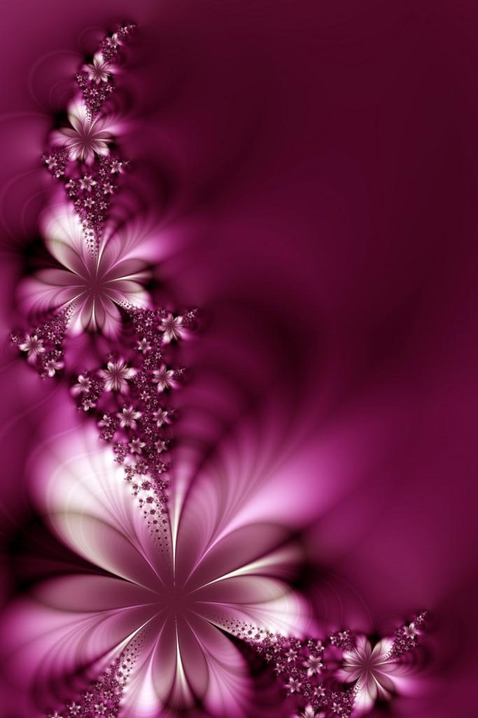 3D Abstract Flower Wallpaper iPhone