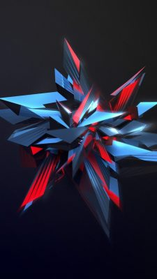 3D Crystal iPhone Wallpaper