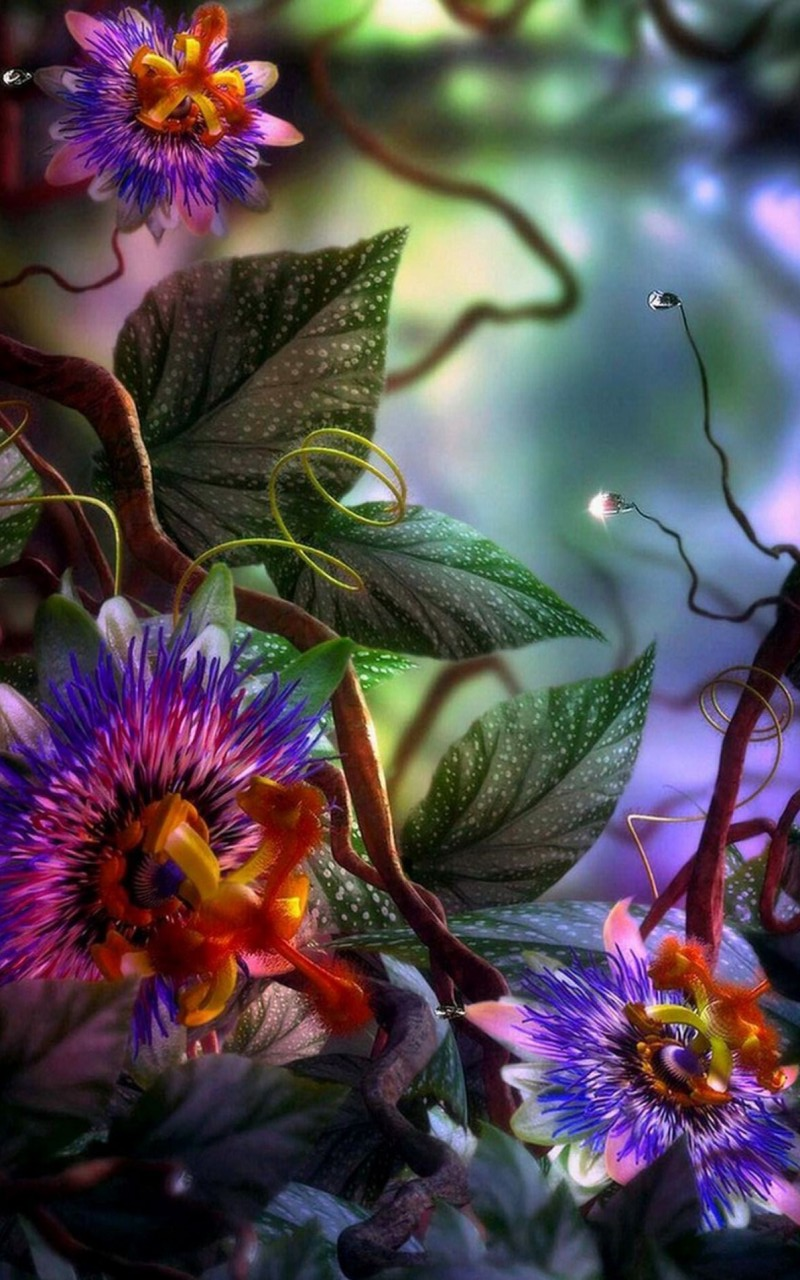 3D Flowers Wallpaper iPhone 8