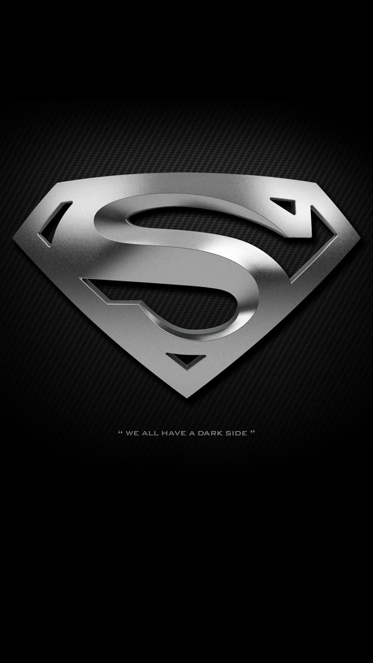 Black Superman Logo Wallpaper iPhone resolution 750x1334