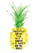 Cute Pineapple Quotes iPhone Wallpaper