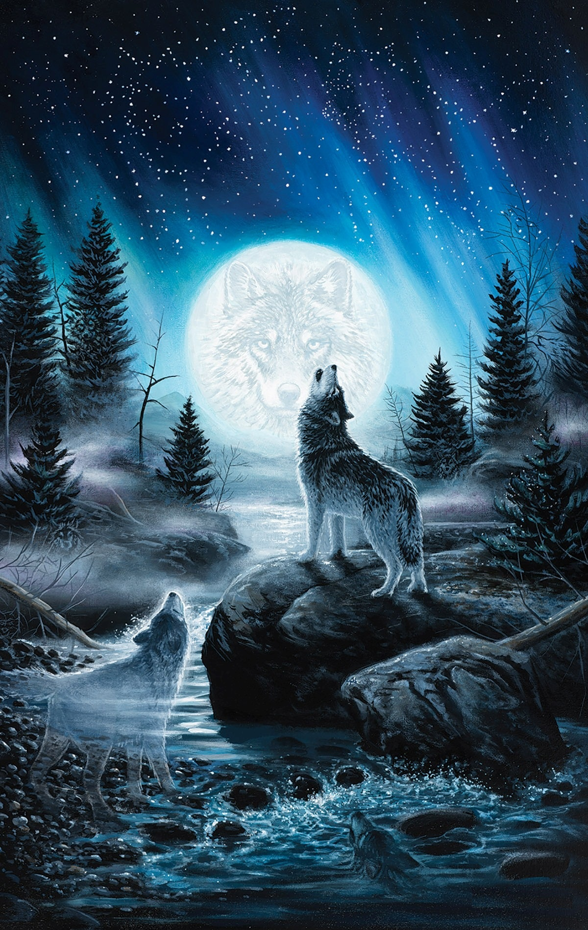 Howling Wolf Wallpaper iPhone resolution 1200x1897