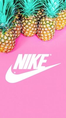 Nike Pineapple Pink Background