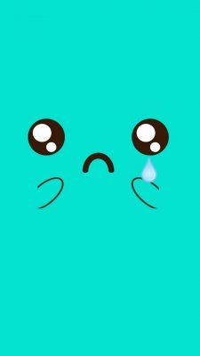 Cute Crying Face iPhone Wallpaper